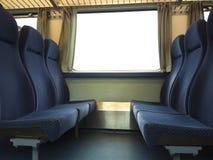 De zetels van de trein Stock Afbeelding