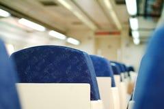De zetels van de trein stock foto's