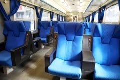 De Zetels van de trein Royalty-vrije Stock Foto's