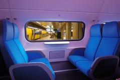 De zetels van de trein stock foto
