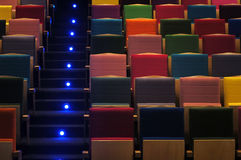 De zetels van het theater stock fotografie