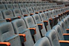 De zetels van het theater Stock Foto's