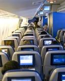 De zetels van het vliegtuig Stock Foto