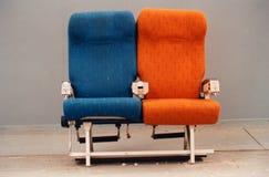 De zetels van vliegtuigen Stock Afbeeldingen