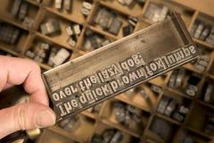 De zetstok van de letterzetter Royalty-vrije Stock Foto's