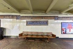 De zevende Post van de Wegmetro - Brooklyn, New York Royalty-vrije Stock Foto's