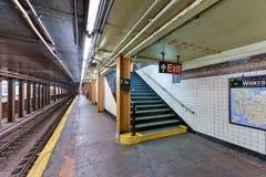 De zevende Post van de Wegmetro - Brooklyn, New York Stock Afbeelding