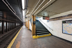 De zevende Post van de Wegmetro - Brooklyn, New York Royalty-vrije Stock Afbeeldingen