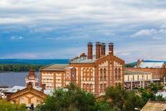 De Zhigulevsk-brouwerij Het gebouw werd gebouwd in 1881 Rusland, Samara, September 2017 Stock Afbeelding