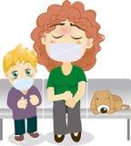 De zieken van de moeder en van de zoon Royalty-vrije Stock Fotografie