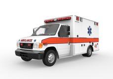 Ziekenwagen op Witte Achtergrond wordt geïsoleerdT die Royalty-vrije Stock Foto's