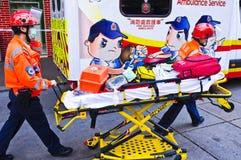 De Ziekenwagen van Hongkong Stock Afbeeldingen