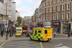 De ziekenwagen van Londen Stock Afbeelding