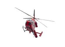 De ziekenwagenhelikopter van de lucht die op wit wordt geïsoleerdu Royalty-vrije Stock Afbeeldingen