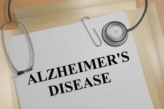 De Ziekte van Alzheimer - medisch concept Stock Afbeeldingen