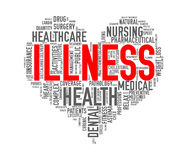 De ziekte van het het hartconcept van de Wordcloudgezondheidszorg Stock Fotografie