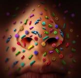 De Ziekte van neuskiemen Stock Foto's