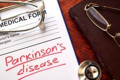 De ziekte van Parkinson stock foto