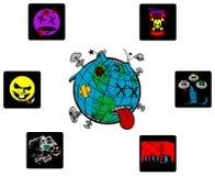 De ziekten van de wereld Stock Foto