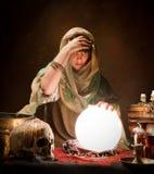 De zigeuner van de kristallen bol Royalty-vrije Stock Foto