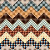 De zigzag van het dekbed Stock Fotografie