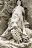 De zij-wolf - het Internationale Festival van 2009 van Zand Stock Fotografie