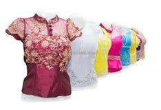 De zijdedoek van Laos, met de hand gemaakt Product Royalty-vrije Stock Afbeeldingen