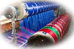 De zijdeindustrie stock foto
