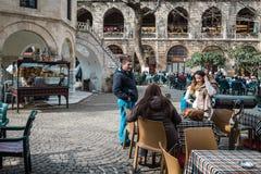 De zijdemarkt van Kozahan in Bursaö Turkije Stock Foto's