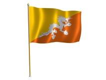 De zijdevlag van Bhutani Stock Fotografie