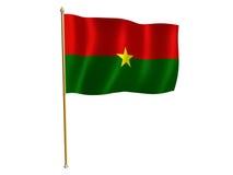 De zijdevlag van Burkina Faso Stock Fotografie