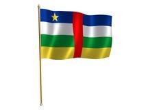 De zijdevlag van de Centraalafrikaanse Republiek Royalty-vrije Stock Afbeelding