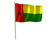 De zijdevlag van Guinea-Bissau Royalty-vrije Stock Afbeeldingen
