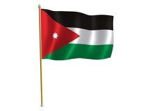 De zijdevlag van Jordanië Stock Foto's