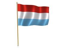 De zijdevlag van Luxemburg Stock Afbeelding