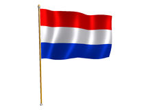 De zijdevlag van Nederland Stock Afbeeldingen