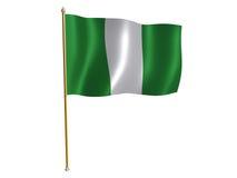 De zijdevlag van Nigeria Stock Fotografie