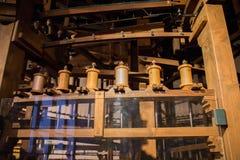 De zijdewerken die van San Lucio, Caserta, weefgetouwen de zijde van de Bourbon weven royalty-vrije stock afbeelding