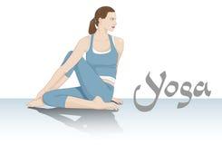 De zijdraai van de yoga Stock Fotografie