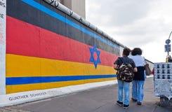 De Zijgalerij van het oosten in Berlijn, Duitsland Royalty-vrije Stock Afbeelding