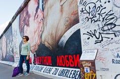 De Zijgalerij van het oosten in Berlijn, Duitsland Stock Foto
