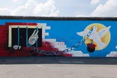 De Zijgalerij van het oosten - Berlin Wall. Berlijn, Duitsland Royalty-vrije Stock Foto