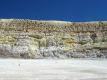 De Zijgevel van de krater Stock Afbeeldingen