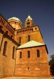 De zijgevels van de Kathedraal van Speyer, Speyer, Duitsland Royalty-vrije Stock Afbeeldingen