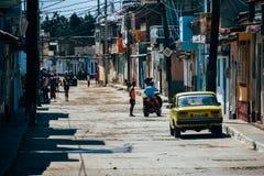 De zijstraten van Trinidad, Cuba stock foto