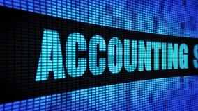 De Zijtekst die van de boekhoudingsdiensten LEIDEN Muurcomité de Raad van het Vertoningsteken scrollen stock footage