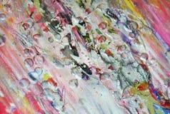 De zilverachtige achtergrond van de pastelkleur roze verf op gebrande textuur Stock Fotografie