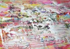De zilverachtige achtergrond van de pastelkleurverf op gebrande textuur Stock Foto