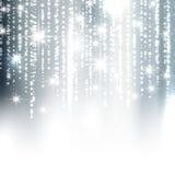 De zilveren achtergrond van fonkelingskerstmis Royalty-vrije Stock Afbeeldingen