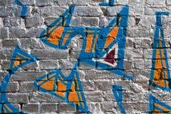 De zilveren achtergrond van Graffiti Stock Foto's